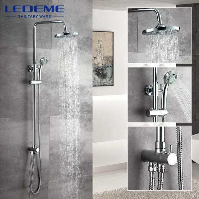 LEDEME New Bathroom Shower Classic Bathroom Shower Faucet Bath Faucet Mixer  Tap With Hand Shower Head