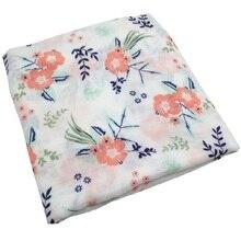 Summer Floral Patterned Breathable Muslin Swaddle Blanket