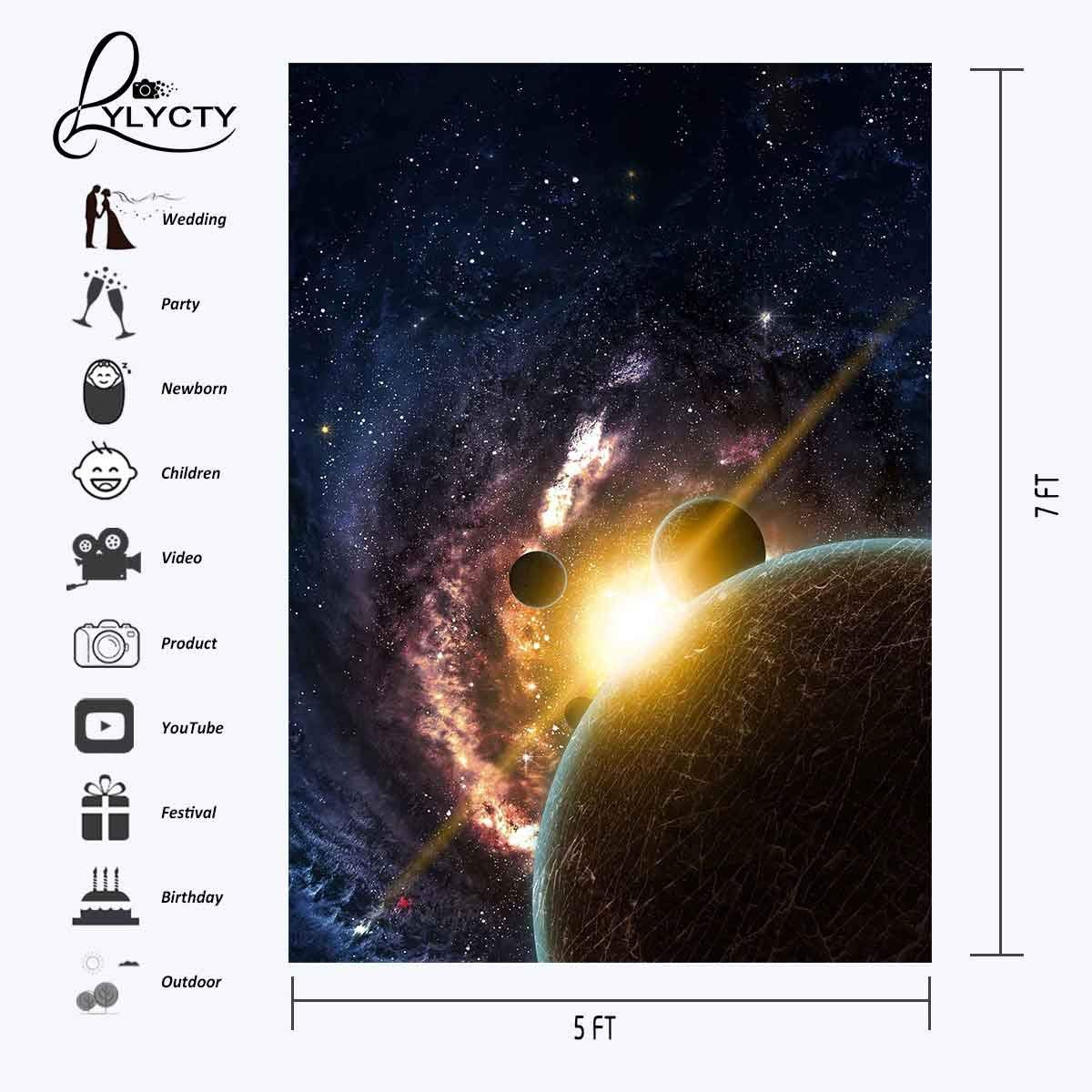 Image 3 - 5x7ft Starry Sky Backdrop Dark Color Cosmic Science Photography Background and Studio Photography Backdrop Props-in Photo Studio Accessories from Consumer Electronics