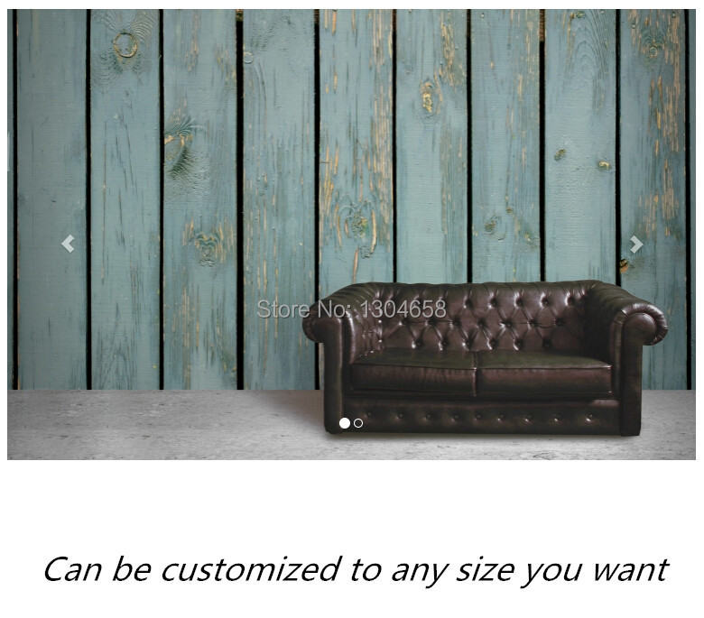 Free shipping custom- modern 3D mural Stained Blue Wood Wall Mural sofa bedroom TV backdrop wallpaper free shipping custom 3d mural classic retro modern sofa bedroom tv backdrop wallpaper zebra wallpaper