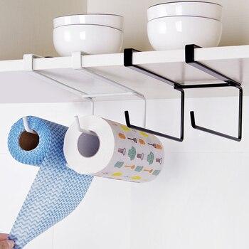 New Kitchen Toilet Paper Towel Rack Paper holder Towel Roll Holder Cabinet Hanging Shelf Organizer Bathroom Kitchen Supplies Туалет