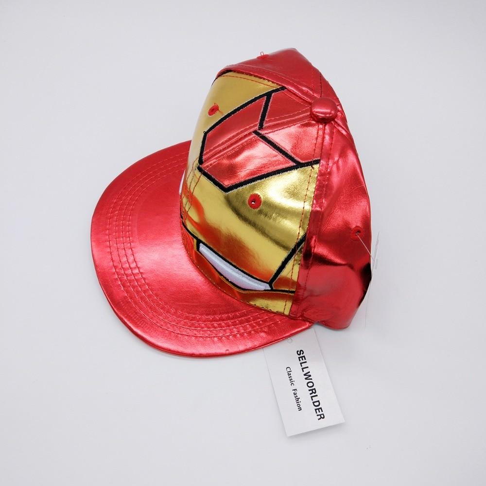 Gorras de béisbol estilo 3 para niños y adultos talla Ironman Avengers 2018  Iron Man personaje de dibujos animados Casual hip hop sombreros y gorras en  ... 3baf4953578
