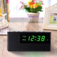 Pulpit Budzik Drzemki Komórka USB Ładowania Charakter Sypialnia Elektroniczny Wyświetlacz Cyfrowy Zegar Kalendarz Temperatury Podświetlenie