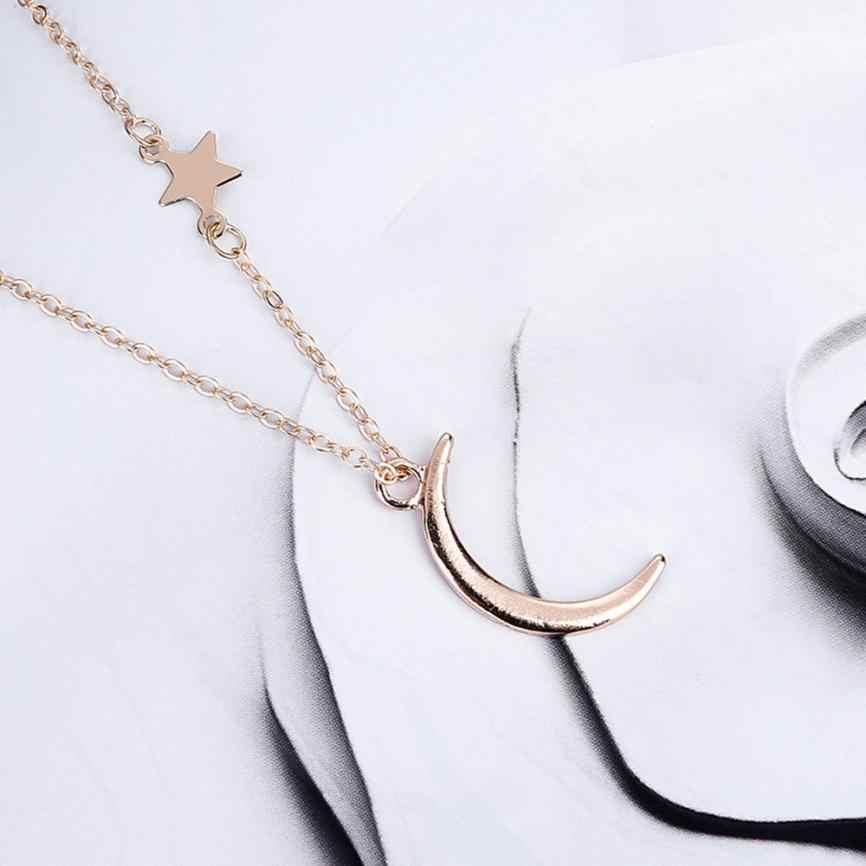 Ретро искусство полумесяц ожерелье с подвеской в форме головы ювелирные изделия Fancinating ювелирные изделия колье ожерелье Стильный романтический подарок на день Святого Валентина чокер