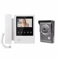 Video Intercom Camera Door Phone System With 1 White Phone Monitor Reader HD Doorbell Webcam Security