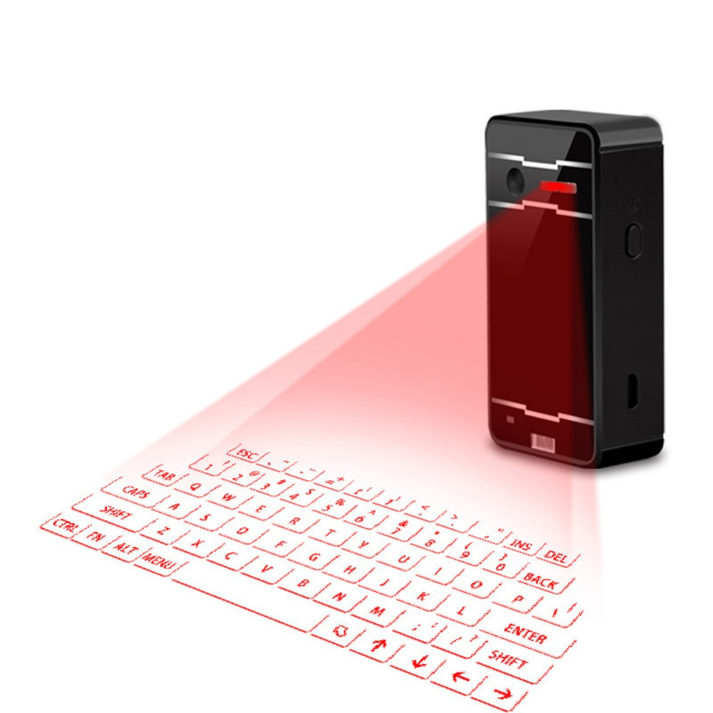 Projeção A Laser Bluetooth Teclado Virtual laser Bluetooth para Iphone/Ipad/Tablets Smartphone Ultra-Portátil Teclado Virtual