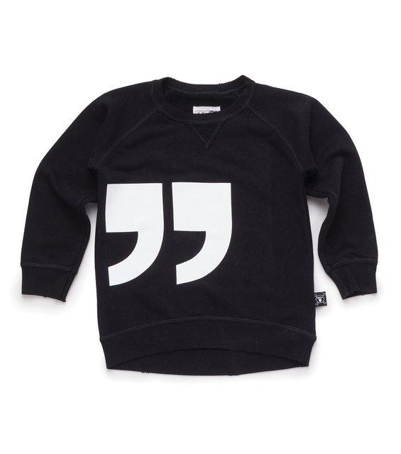 Citação bebê Da Menina do Menino Unisex Moda Europeia Preto Tee Camiseta Nununu Miúdos Criança Camisola Outono Roupa Envelhecida 18M-8Y