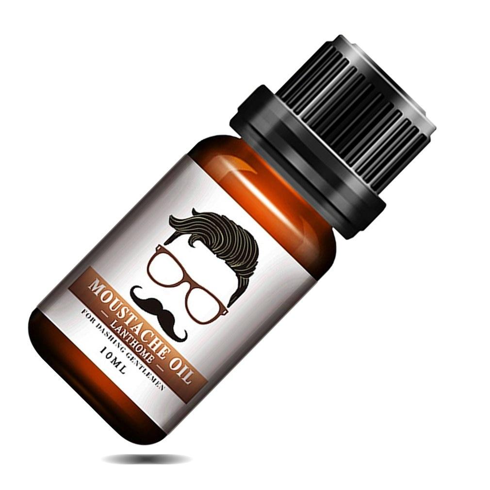 1pc Men Natural Organic Styling Moustache Oil Moisturizing Smoothing Dashing Gentlemen Bea
