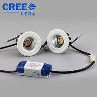 CREE 5W 7W 9W COB LED Downlight Dimmable Warm White Nature Pure White Recessed LED Lamp Mini Spot Led Encastrable AC100 240V DHL
