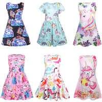 Ropa Infantil, Vestidos de My little Baby, flamenco y unicornio, vestido de fiesta de chica, Vestidos de verano para niña, ropa de princesa