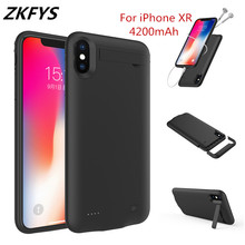 ZKFYS 4200mAh Portable Ultrathin Large Capacity  Charging Power Bank Battery Case For iPhone XR Fast Charger Cover