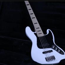 New Product Jazz Bass 5 String Electric Bass Guitar Z-ZV5 White Gloss Paint Top Quality Canada Maple Real Photos Free Shipping new china firehawk oem shop electric bass guitar 5 string bass active neck through body color can be changed ems free shipping