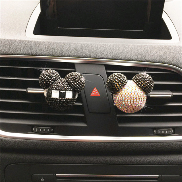 Luxury Car perfume Diamond Air conditioner Outlet clip Interior decoration Car Air Freshener Car Styling Perfumes 100 Original 1