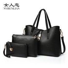 Famous Brand Women Bag Fashion Ladies Messenger Bags Handbags PU Leather Shoulder Bags Female Composite Bag