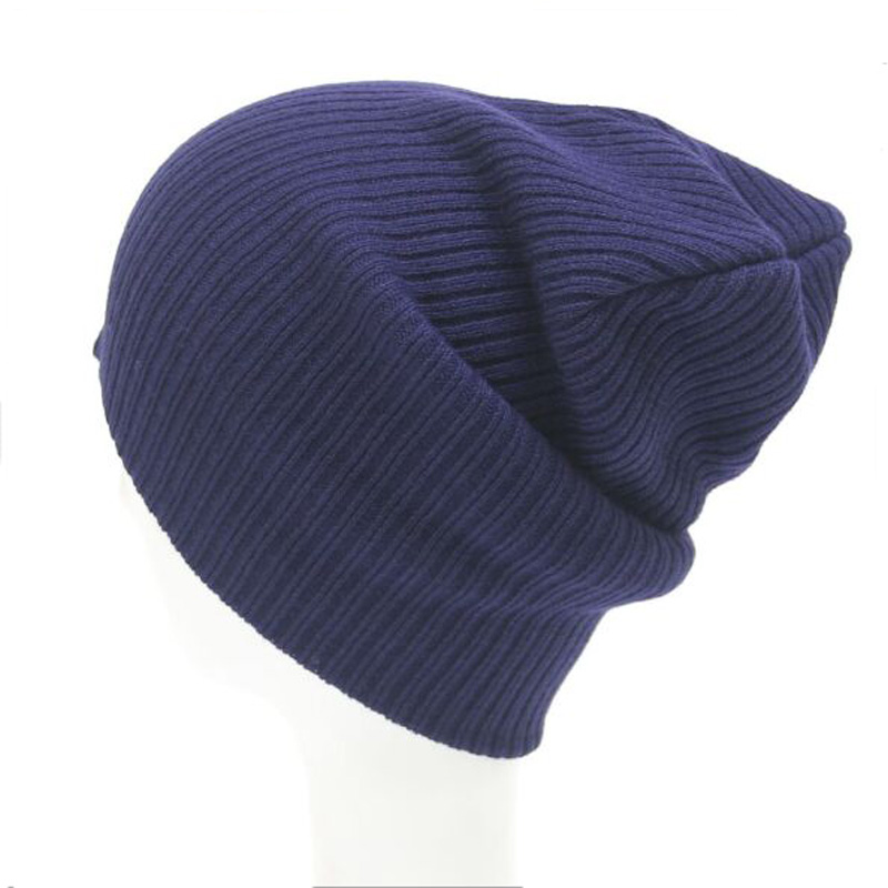 2017 Fashion Winter Women Hats New Solid Knitting Warm Gorros for Men Unisex Hip Hop Beanies Cute 7 Color fashion letter hats gorros bonnets cocain