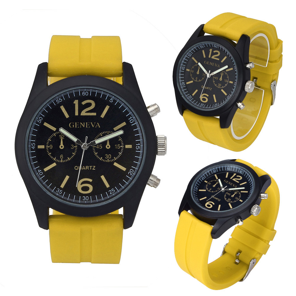 New Arrival Superior Geneva Fashion Unisex High Quality Silicone Analog Quartz Wrist Watch Relogio Masculino Feminino Dropship
