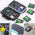 100 pçs/lote Memory Card Case Holder para 4 CF 8 SD Card Caixa de Armazenamento SDXC TF T-Flash XD MSPD Protetor Anti-choque À Prova D' Água IP67