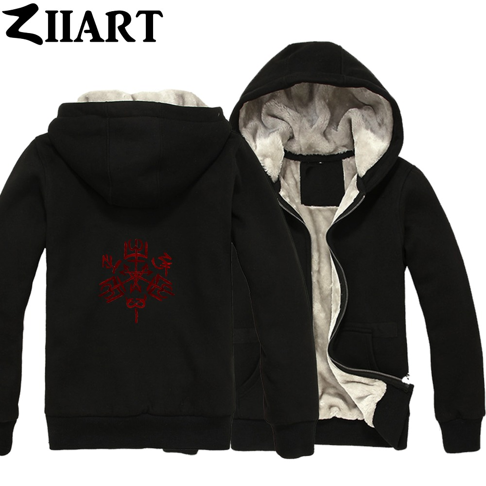 Supernatural Purgatory Symbols redCouple Clothes Boys Man Male Full Zip Autumn Winter Plus Velvet   Parkas   ZIIART
