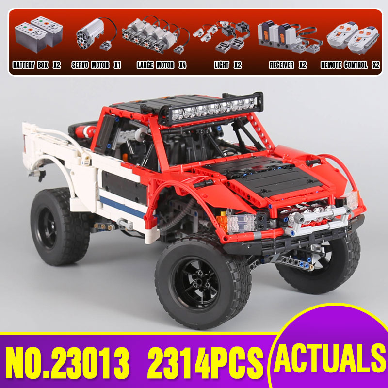 Lepin 23013 Genuine Technic Series The Remote-Control Off-road Car Set Building Blocks Bricks legoing Toys As children Gifts 32 32 dots plastic bricks the island straight crossroad curve green meadow road plate building blocks parts bricks toys diy