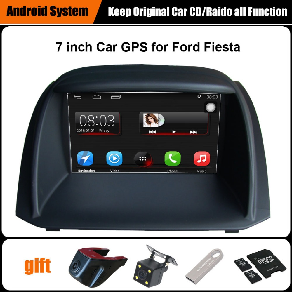 upgraded original car multimedia player car gps navigation suit to ford fiesta support wifi. Black Bedroom Furniture Sets. Home Design Ideas