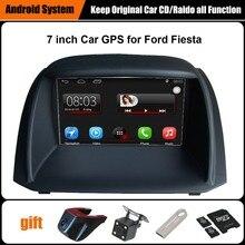 Обновлен Оригинальный Автомобиль мультимедийный Плеер Автомобиля Gps-навигация Костюм для Ford Fiesta Поддержка Wi-Fi Смартфон Зеркало-link Bluetooth