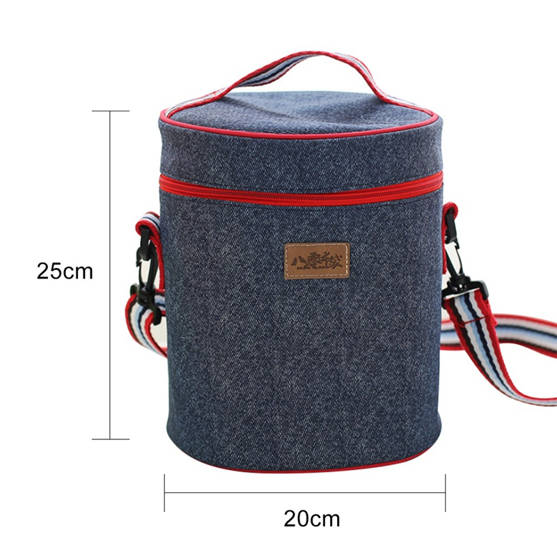 Home Picnic Ice Bag Denim Insulation Bag Lunch Package Convenient And Practical Picnic Bags