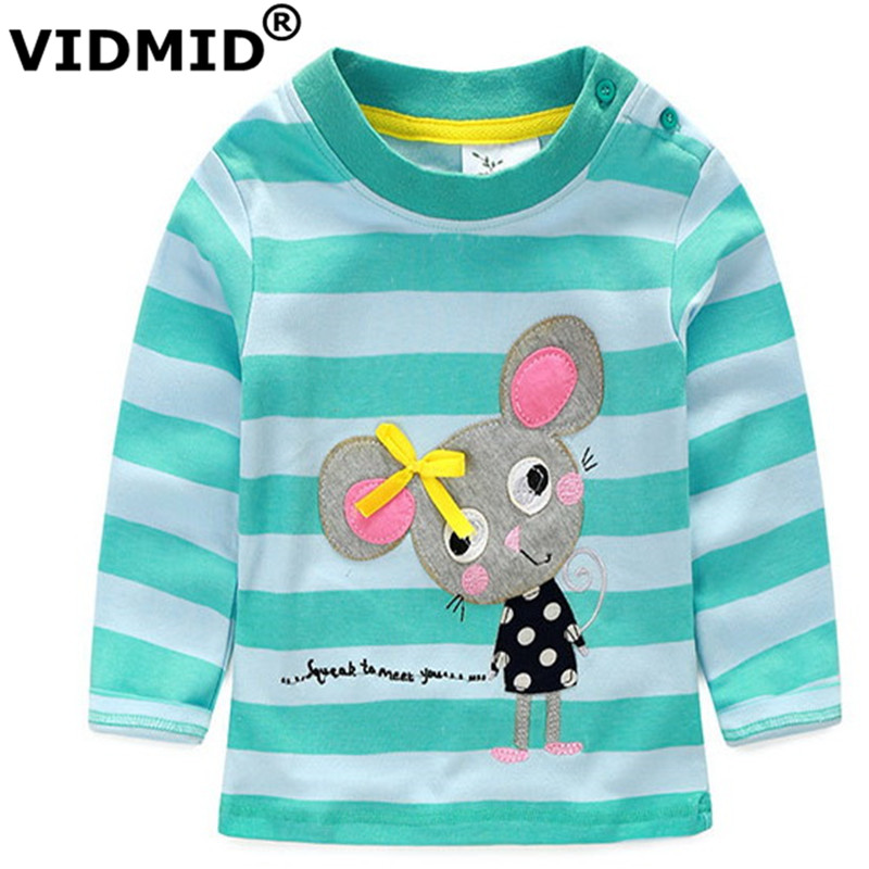VIDMID 1-6 Years Baby Girl t shirt Girls T-shirt Kids Tees child brand blouse for girls children clothes jackets long sleeve
