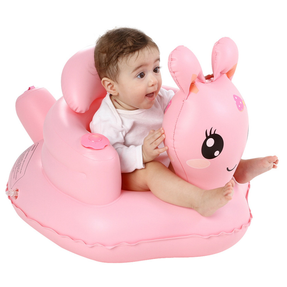 Multifunctional Baby Inflatable Chair PVC Kids Seat Sofa Pink Bath Seats Dining Pushchair Infant Portable Play Game Mat For Baby