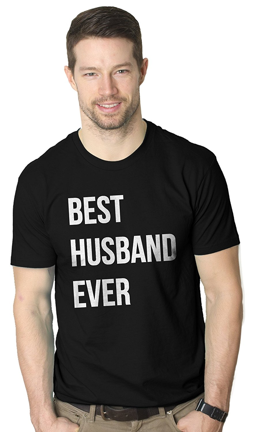 Mens Best Husband Ever T Shirt Funny T-Shirts for Dad Fathers Day Gift Sarcasm Wedding Men Great Quality Funny Man Cotton