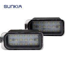2 pz/lotto 12 v Auto LED Targa Numero di licenza Luce 18 SMD Super White Lampada per JAGUAR Nuovo XJ/ XF con Al Suo Interno Canbus