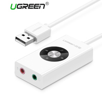 Ugreen USB Sound Card USB Audio Extenal USB 5 1 Sound Card Audio Mic Headphone Jack