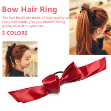Wild hair accessories band sweet over sized ribbon bow ring popular tie rope