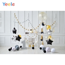 Yeele 1st Birthday Scene Balloons Baby Child Indoor Personalized Photographic Backdrops Photography Backgrounds For Photo Studio