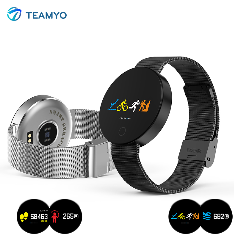Teamyo 007 Smart wristband Fitness bracelet watches Blood pressure Heart rate monitor pedometer Sport watch For iOS Android