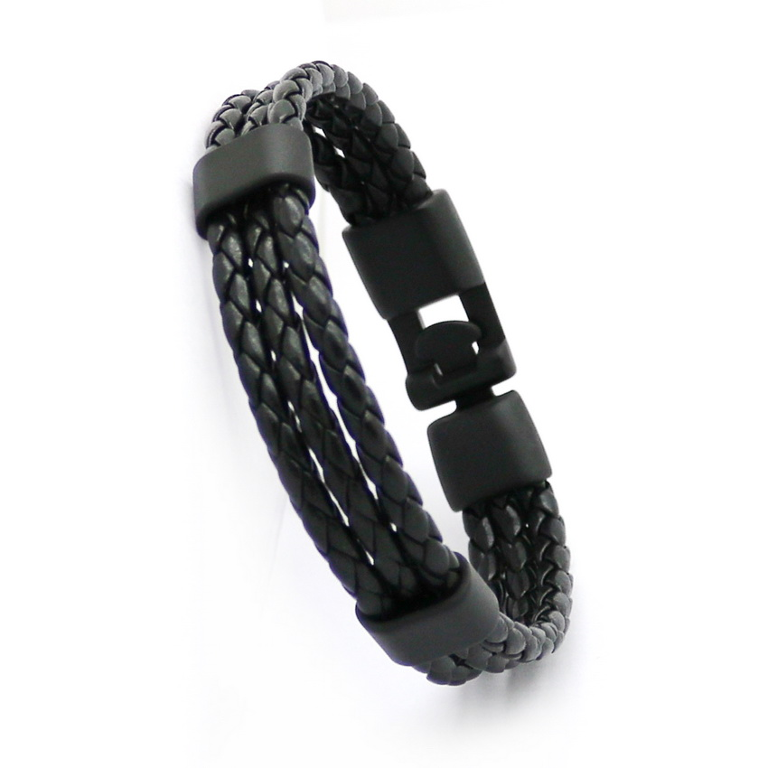 HOT New Fashion Black Alloy Mænds Armbånd Høj kvalitet Retro - Mode smykker - Foto 2