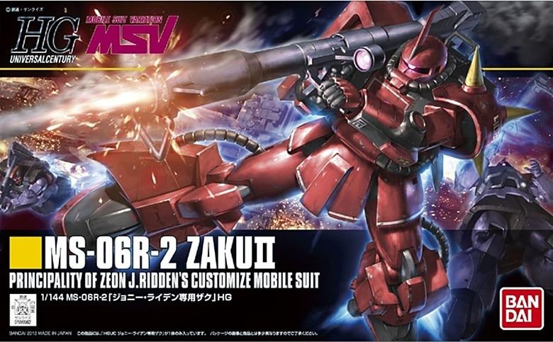 1PCS Bandai 1/144 HGUC 166 MS-06R J.Ridden's ZakuII Gundam Mobile Suit Assembly Model Kits Anime action figure Gunpla ohs bandai mg 179 1 100 sengoku astray gundam mobile suit assembly model kits