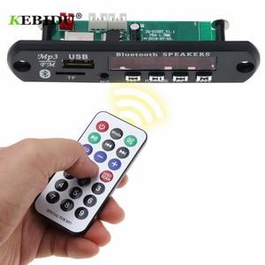 Image 1 - KebiduรถUSB Bluetoothบลูทูธโมดูล5V 12Vไร้สายบลูทูธ4.1 MP3 WMAถอดรหัสคณะกรรมการไร้สายUSB FM Auxวิทยุ