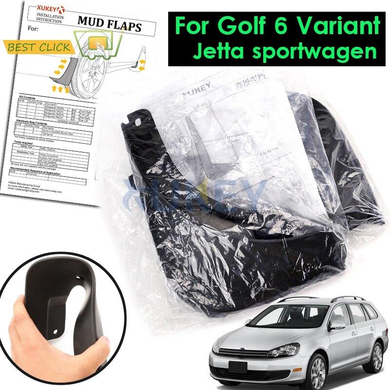 Set Molded Mud Flaps For VW Golf 6 Mk6 Variant Estate 2009 2010 2011 2012 Mudflaps