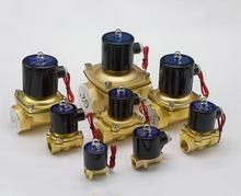 Freeshipping Gas Water Pneumatic Electric Solenoid Valve Water Air DC/24V/12V AC/220V 2W-06/08/10/15/20/25/32/40/50, NC, 2 Way