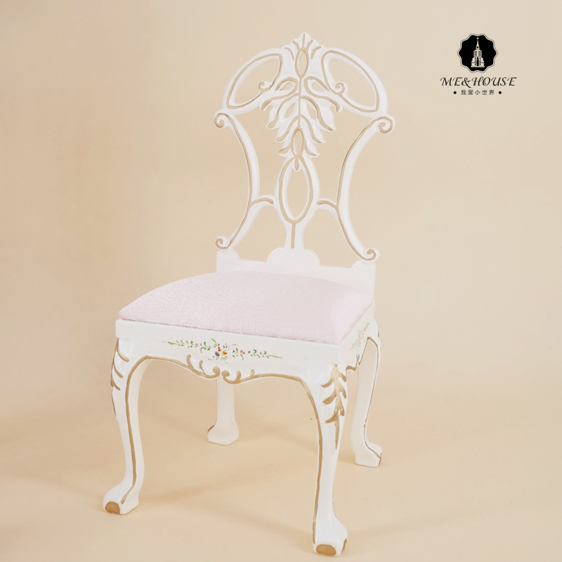 1/6 Scale New BJD Doll House Handmade Wooden Chair Court Style Mini Furniture Exquisite Chair