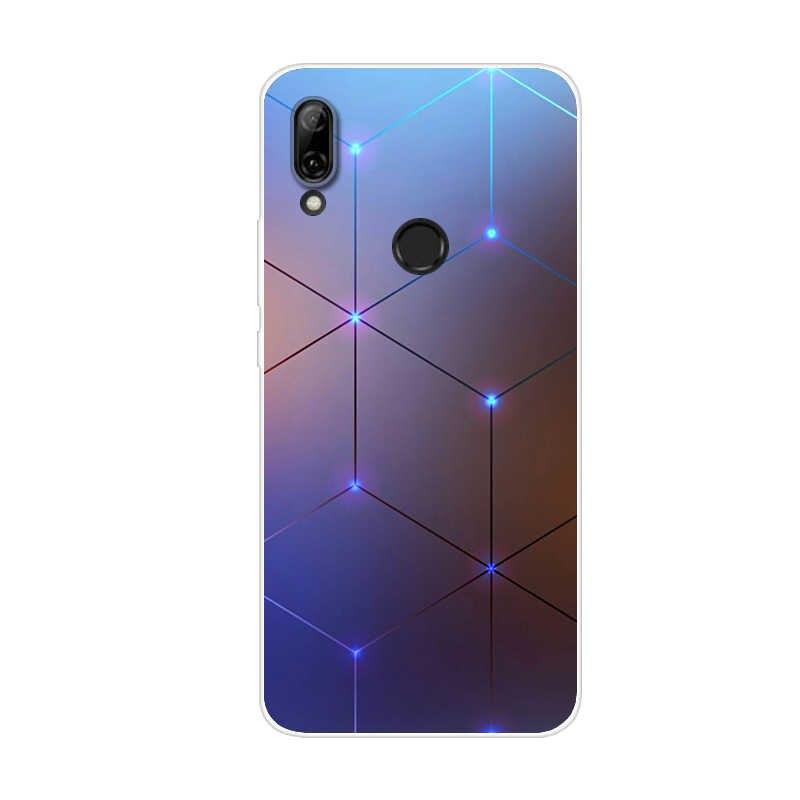 Dành cho Huawei P Smart Z 6.59 ''MỚI Thời Trang Silicone Mềm Mại ỐP Lưng TPU Coque Cho Huawei PSmart Z điện Thoại 2019 Trường Hợp Fundas CapA