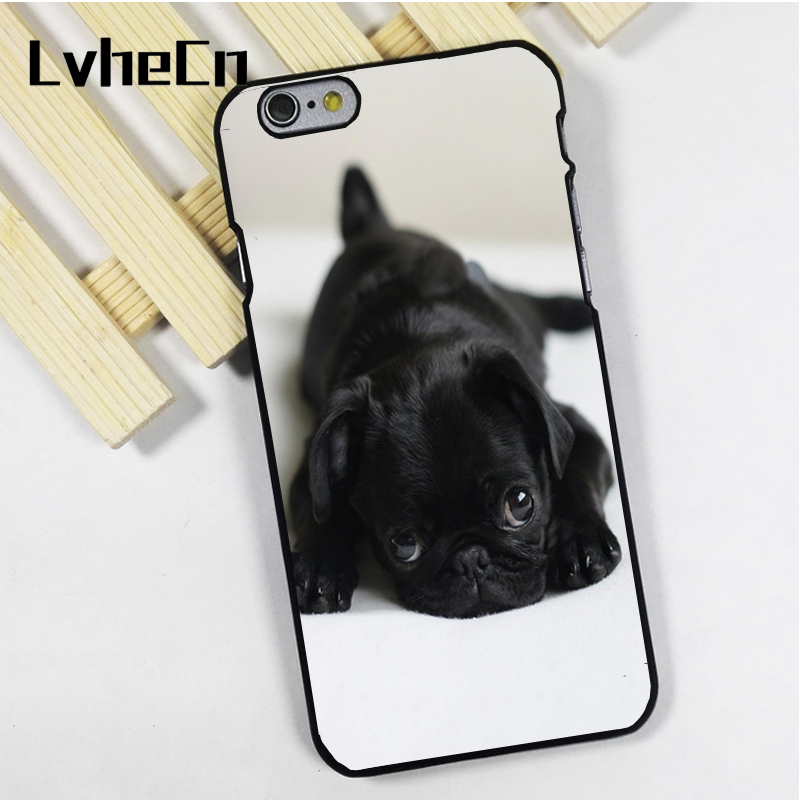 LvheCn phone case cover fit for iPhone 4 4s 5 5s 5c SE 6 6s 7 8 plus X ipod touch 4 5 6 Cute Pug Puppy Dog Adorable