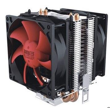 Double-ventilateur 2 heatpipe cpu refroidisseur de refroidissement pour lga1151 775 1150 1155 radiateur 8 cm cpu ventilateur pccooler s80ex