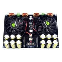 KYYSLB TDA8954 420W + 420W 2 0 Clase D Placa de amplificador de potencia Digital (refrigeración por ventilador) ac12 5v a AC26V Placa de amplificador