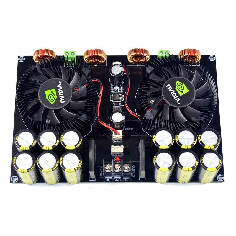 KYYSLB TDA8954 420W + 420W 2.0 Class D Digital Power Amplifier Board (Fan Cooling) AC12.5V To AC26V  Amplifier Board