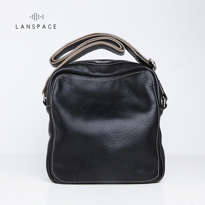 LANSPACE men's leather shoulder bag handmade fashion casual men's messenger bags lanspace men s leather shoulder bag leather small bag handmade fashion casual men s messenger bags