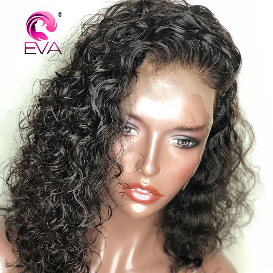360 Lace Frontal Wig Pre Plucked With Baby Hair 180% Density Curly Lace Front Human Hair Wigs Brazilian Remy hair Wigs EVA Hair(China)
