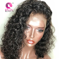 360 Lace Frontal Wigs Pre Plucked With Baby Hair 180% Density Curly Lace Front Human Hair Wigs Brazilian Remy hair EVA Hair