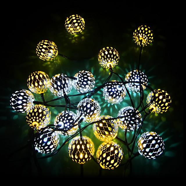 Novedad Romántica Alambre Estrellado LED Energía Solar LED Cadena Luces de Navidad de La Boda Blanca Cálida Iluminación Decoración de interior al aire libre