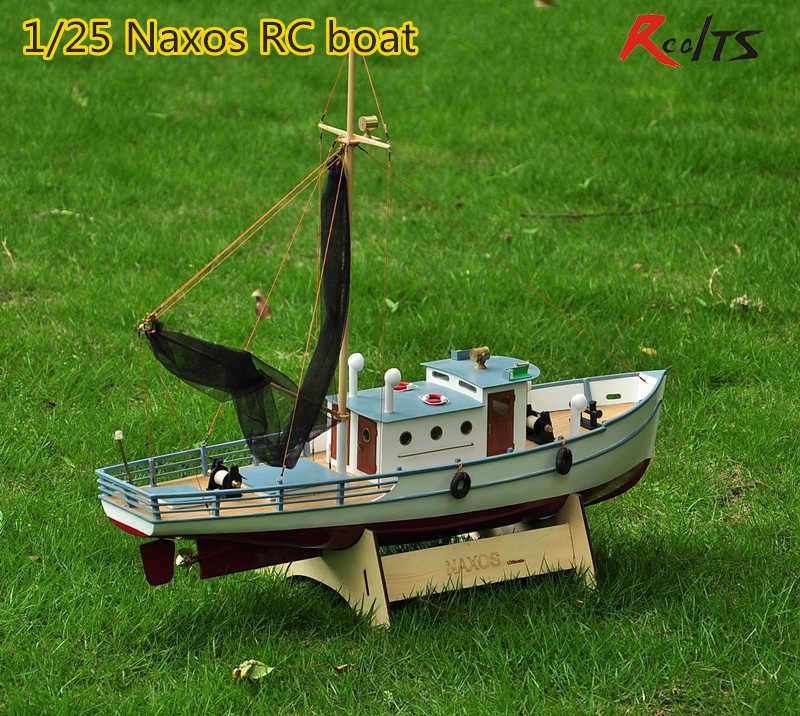 RealTS Classic fishing boat model Scale 1/25 NAXOS RC Fishing ship remote control wood boat model kit
